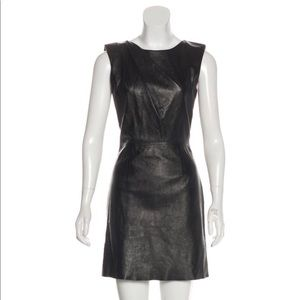 Black Saint Laurent Leather Dress